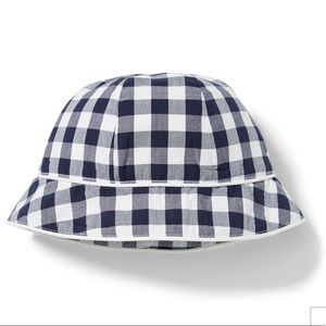 Janie and Jack Gingham Bucket Hat, 0-3M - NEW